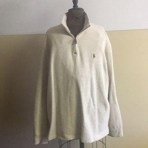 Polo Ralph Lauren 1/2 zip up cotton sweater.